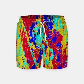 Multicolored Vibrant Abstract Textre Print Swim Shorts Bild der Miniatur