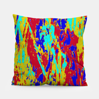 Miniatur Multicolored Vibrant Abstract Textre Print Pillow, Live Heroes