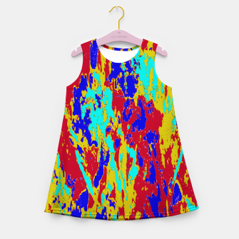 Multicolored Vibrant Abstract Textre Print Girl's summer dress Bild der Miniatur