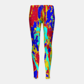 Miniatur Multicolored Vibrant Abstract Textre Print Girl's leggings, Live Heroes