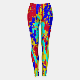 Miniatur Multicolored Vibrant Abstract Textre Print Leggings, Live Heroes