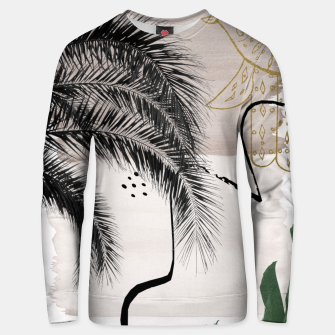 Miniaturka Banana Palms Hamsa Hand Abstract - Naturelle #1 #minimal #wall #decor #art Unisex sweatshirt, Live Heroes