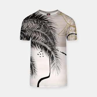 Miniaturka Banana Palms Hamsa Hand Abstract - Naturelle #1 #minimal #wall #decor #art T-Shirt, Live Heroes