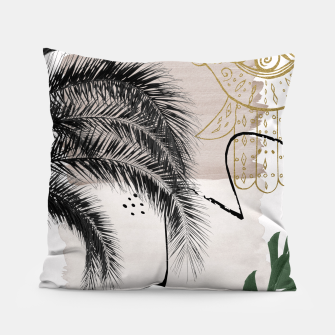 Miniaturka Banana Palms Hamsa Hand Abstract - Naturelle #1 #minimal #wall #decor #art Kissen, Live Heroes