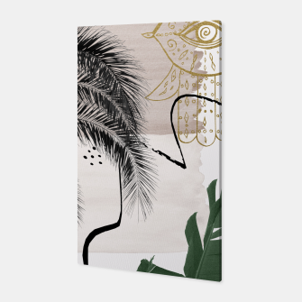 Thumbnail image of Banana Palms Hamsa Hand Abstract - Naturelle #1 #minimal #wall #decor #art Canvas, Live Heroes