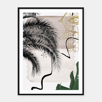 Thumbnail image of Banana Palms Hamsa Hand Abstract - Naturelle #1 #minimal #wall #decor #art Plakat mit rahmen, Live Heroes