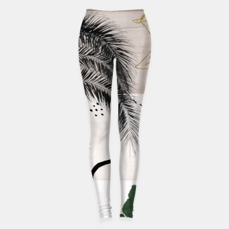 Miniaturka Banana Palms Hamsa Hand Abstract - Naturelle #1 #minimal #wall #decor #art Leggings, Live Heroes