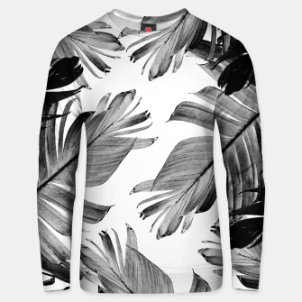Thumbnail image of Tropical Banana Leaves Pattern #1 #tropical #decor #art  Unisex sweatshirt, Live Heroes
