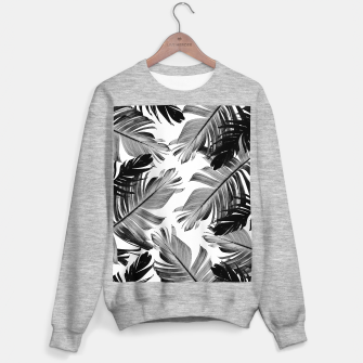 Thumbnail image of Tropical Banana Leaves Pattern #1 #tropical #decor #art  Sweatshirt regulär, Live Heroes