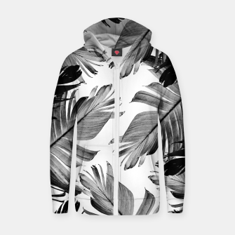 Thumbnail image of Tropical Banana Leaves Pattern #1 #tropical #decor #art  Reißverschluss kapuzenpullover, Live Heroes