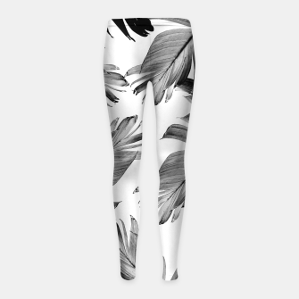 Thumbnail image of Tropical Banana Leaves Pattern #1 #tropical #decor #art  Kinder-Leggins, Live Heroes