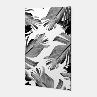 Thumbnail image of Tropical Banana Leaves Pattern #1 #tropical #decor #art  Canvas, Live Heroes
