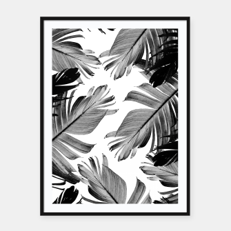 Thumbnail image of Tropical Banana Leaves Pattern #1 #tropical #decor #art  Plakat mit rahmen, Live Heroes