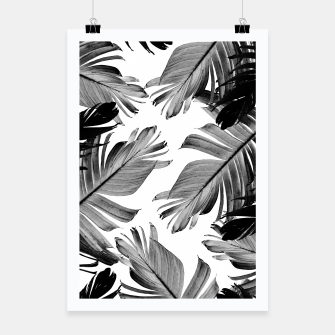Thumbnail image of Tropical Banana Leaves Pattern #1 #tropical #decor #art  Plakat, Live Heroes