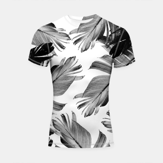Thumbnail image of Tropical Banana Leaves Pattern #1 #tropical #decor #art  Shortsleeve rashguard, Live Heroes