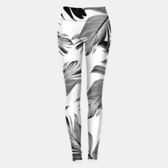 Thumbnail image of Tropical Banana Leaves Pattern #1 #tropical #decor #art  Leggings, Live Heroes