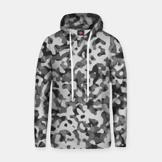 Miniatur Grey Pattern Camouflage & Mosaic Style Kapuzenpullover, Live Heroes