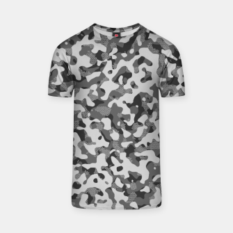 Thumbnail image of Grey Pattern Camouflage & Mosaic Style T-Shirt, Live Heroes
