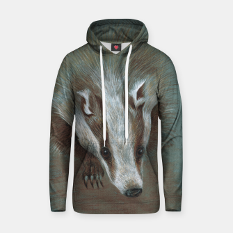 Thumbnail image of badger face hoody, Live Heroes