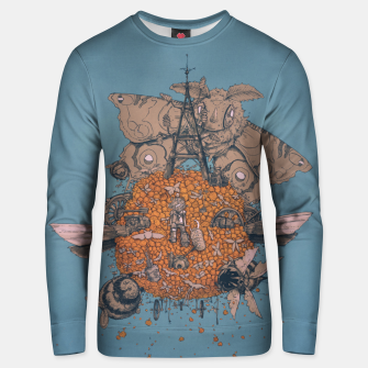 Thumbnail image of La machine volante Unisex sweater, Live Heroes