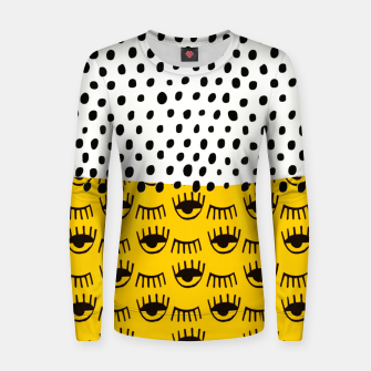 Thumbnail image of Yellow Traditional Moroccan Pattern by ARTERESTING Women sweater, Live Heroes