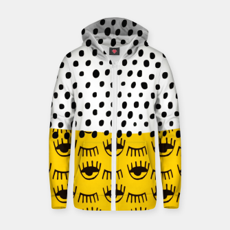 Thumbnail image of Yellow Traditional Moroccan Pattern by ARTERESTING Zip up hoodie, Live Heroes