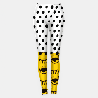 Thumbnail image of Yellow Traditional Moroccan Pattern by ARTERESTING Leggings, Live Heroes