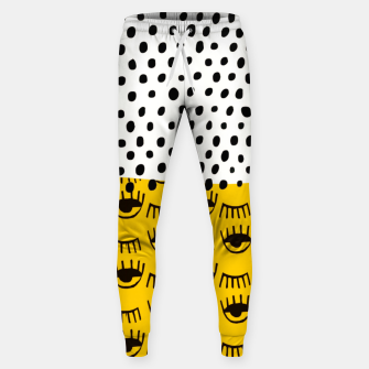 Thumbnail image of Yellow Traditional Moroccan Pattern by ARTERESTING Sweatpants, Live Heroes