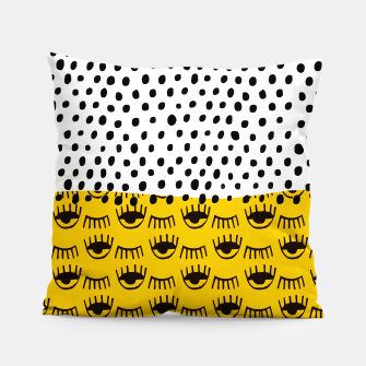 Thumbnail image of Yellow Traditional Moroccan Pattern by ARTERESTING Pillow, Live Heroes