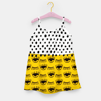 Thumbnail image of Yellow Traditional Moroccan Pattern by ARTERESTING Girl's dress, Live Heroes