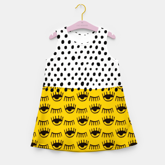 Thumbnail image of Yellow Traditional Moroccan Pattern by ARTERESTING Girl's summer dress, Live Heroes