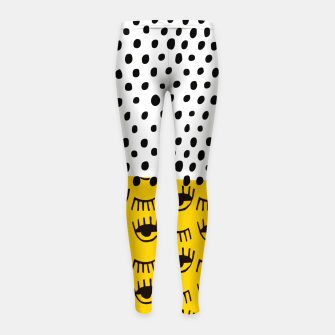 Thumbnail image of Yellow Traditional Moroccan Pattern by ARTERESTING Girl's leggings, Live Heroes