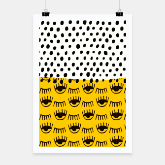 Thumbnail image of Yellow Traditional Moroccan Pattern by ARTERESTING Poster, Live Heroes