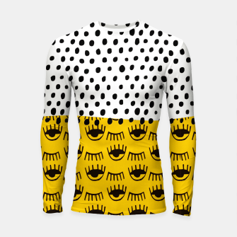 Thumbnail image of Yellow Traditional Moroccan Pattern by ARTERESTING Longsleeve rashguard , Live Heroes