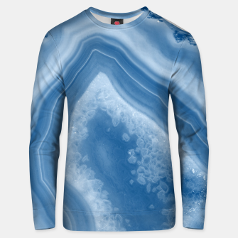 Thumbnail image of Classic Blue Agate Dream #1 #gem #decor #art Unisex sweatshirt, Live Heroes