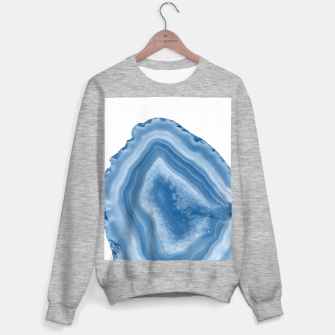 Thumbnail image of Classic Blue Agate Dream #1 #gem #decor #art Sweatshirt regulär, Live Heroes