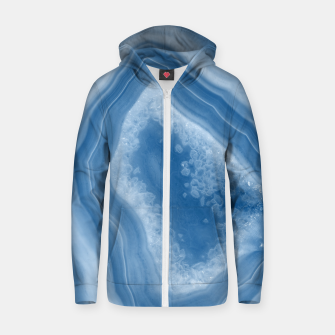 Thumbnail image of Classic Blue Agate Dream #1 #gem #decor #art Reißverschluss kapuzenpullover, Live Heroes