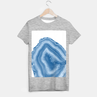 Thumbnail image of Classic Blue Agate Dream #1 #gem #decor #art T-Shirt regulär, Live Heroes