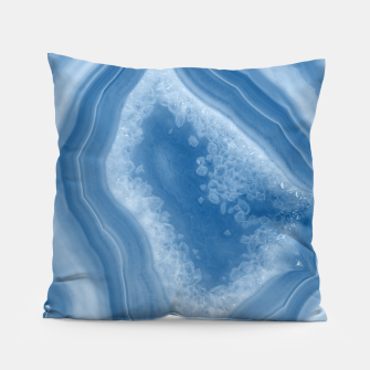 Thumbnail image of Classic Blue Agate Dream #1 #gem #decor #art Kissen, Live Heroes
