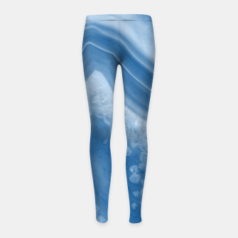 Thumbnail image of Classic Blue Agate Dream #1 #gem #decor #art Kinder-Leggins, Live Heroes