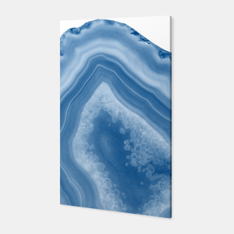 Thumbnail image of Classic Blue Agate Dream #1 #gem #decor #art Canvas, Live Heroes
