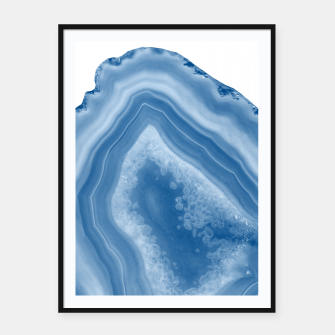 Thumbnail image of Classic Blue Agate Dream #1 #gem #decor #art Plakat mit rahmen, Live Heroes