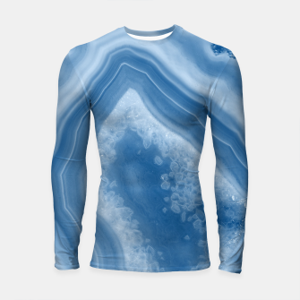 Thumbnail image of Classic Blue Agate Dream #1 #gem #decor #art Longsleeve rashguard, Live Heroes