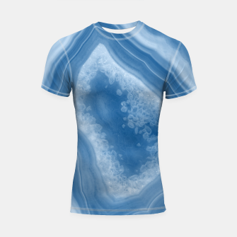 Thumbnail image of Classic Blue Agate Dream #1 #gem #decor #art Shortsleeve rashguard, Live Heroes