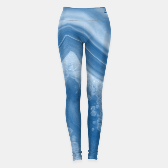 Thumbnail image of Classic Blue Agate Dream #1 #gem #decor #art Leggings, Live Heroes