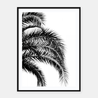 Thumbnail image of Bohemian Palm Leaves #1 #tropical #decor #art Plakat mit rahmen, Live Heroes