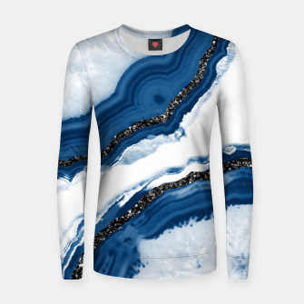 Thumbnail image of Agate Glitter Glam #14 #gem #decor #art Frauen sweatshirt, Live Heroes