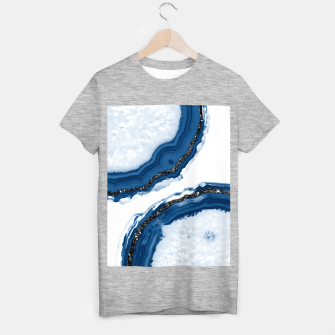 Thumbnail image of Agate Glitter Glam #14 #gem #decor #art T-Shirt regulär, Live Heroes