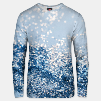 Thumbnail image of Sparkling Classic Blue Ocean Lady Glitter #1 (Faux Glitter) #shiny #decor #art  Unisex sweatshirt, Live Heroes