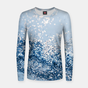 Thumbnail image of Sparkling Classic Blue Ocean Lady Glitter #1 (Faux Glitter) #shiny #decor #art  Frauen sweatshirt, Live Heroes